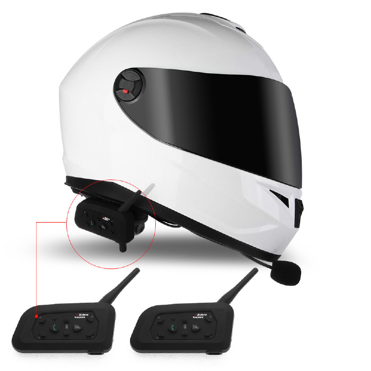2 BT Bluetooth Motorcycle Helmet Interphone Intercom Headset