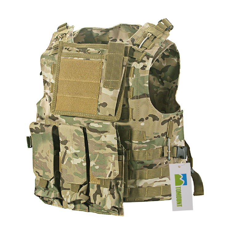 TOMOUNT Airsoft Paintball Combat MOLLE Carrier Vest Outdoor
