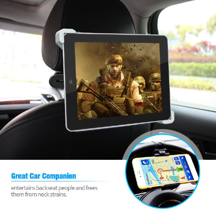 360 Degree Rotation iPad Tablet Car Holder
