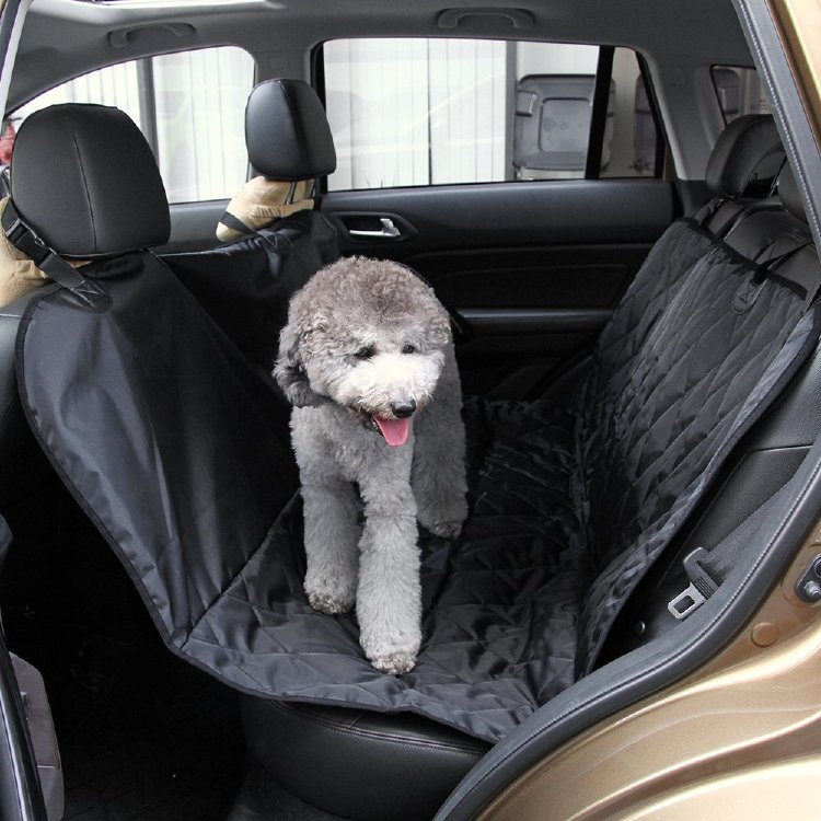 marsboy Dog Seat Cover for Cars Slip-proof Hammock Fourfold Waterproof for Leather Seats