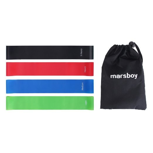 marsboy Resistance Bands Pack of 4 Exercise Bands for Leds Workout