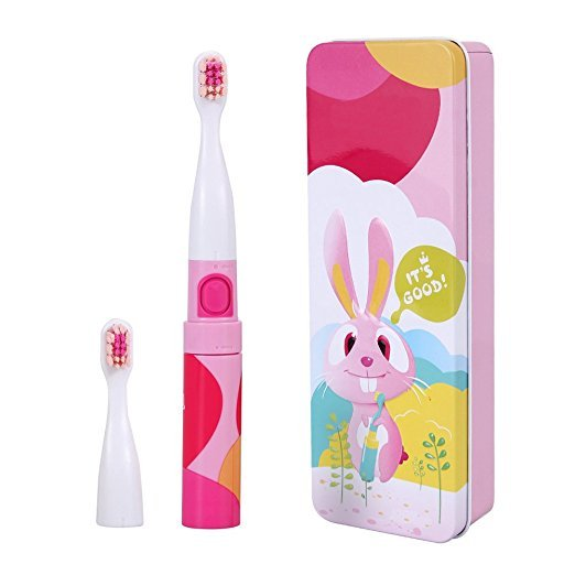 Saky Two Mode Sonic Toothbrush Battery Toothbrush Toddler Electric Toothbrush Kids Pink