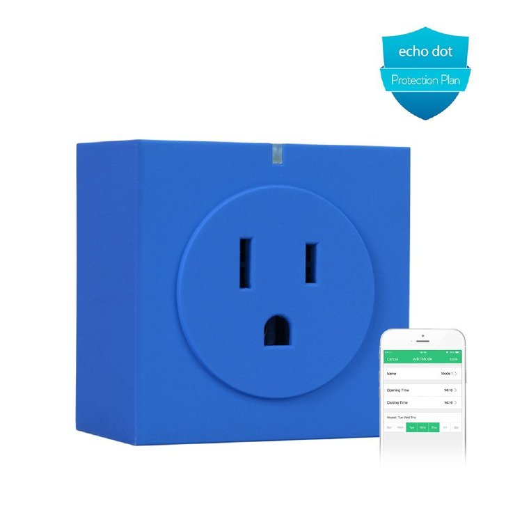 Orvibo Wifi Smart Plug, Control Your Devices from Everywhere, No Hub Required , Wireless Switch with APP, Works with Amazon Alexa for Household Appliances - Blue