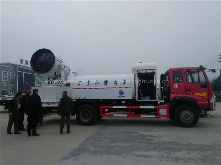 Sinotruk polvo supresión de camiones montado canon de niebla