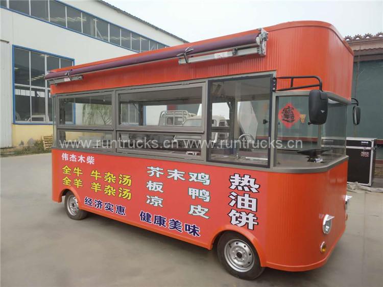 China camión eléctrico de alimentos móviles para la venta de