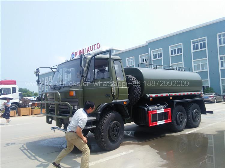 Dongfeng todas las ruedas motrices 6x6 camión de agua para u