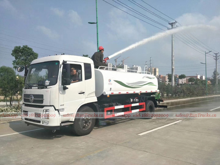 China Dongfeng10 cbm water fire fighting trucks