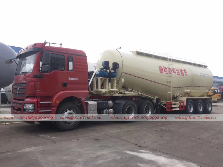 China Shacman 45 cbm bulk cargo truck trailer
