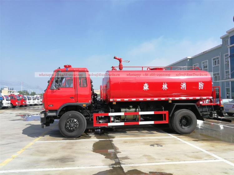 Китай dongfeng 10 cbm водяная пожарная машина