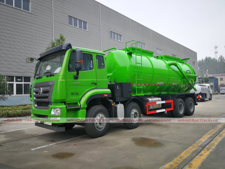 Çin SinoTruk ağır 4 dingil 20cbm çamur emme ve taşıma kamyon