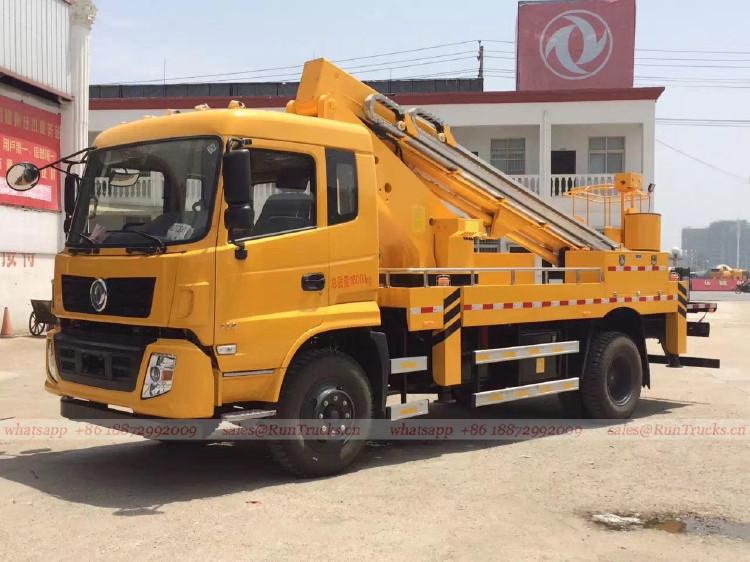 China dongfeng caminhão de plataforma de trabalho aéreo de 2