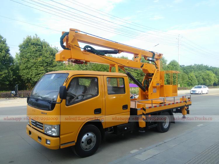 China Dongfeng caminhão de plataforma de trabalho aéreo de 1