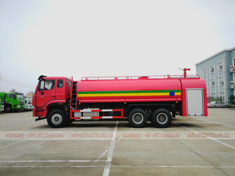 China Howo водный пожарный грузовик экспорт в Эфиопию