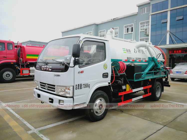 China Fäkalientank, Abwasser Fäkal Saugwagen Hersteller, Lie