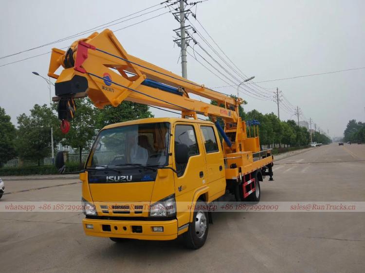 China camión plataforma de trabajo aéreo Isuzu de 18 m