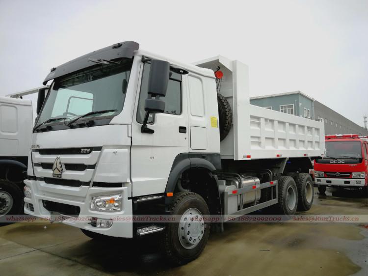 Chine sinotruk howo 7 cab 336 cheval benne basculante