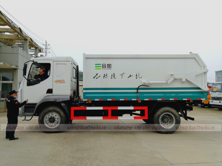 Chine Dongfeng 10cbm bout à bout type camion à ordures