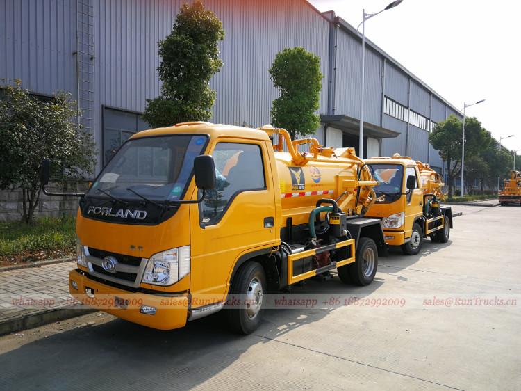 China Foton Forland 3 cbm Abwasser-Saugwagen