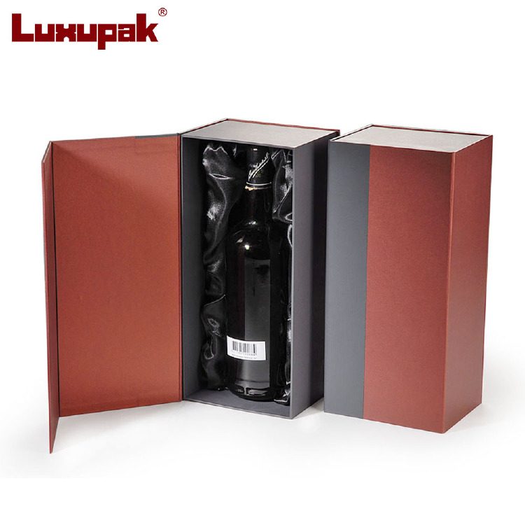 Cardboard Wine Box for single Bottle