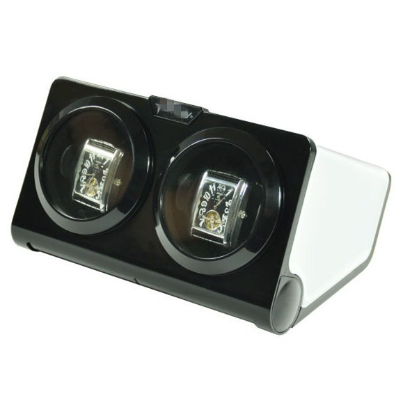 Black Plastic 2 Watch Winder WW-075