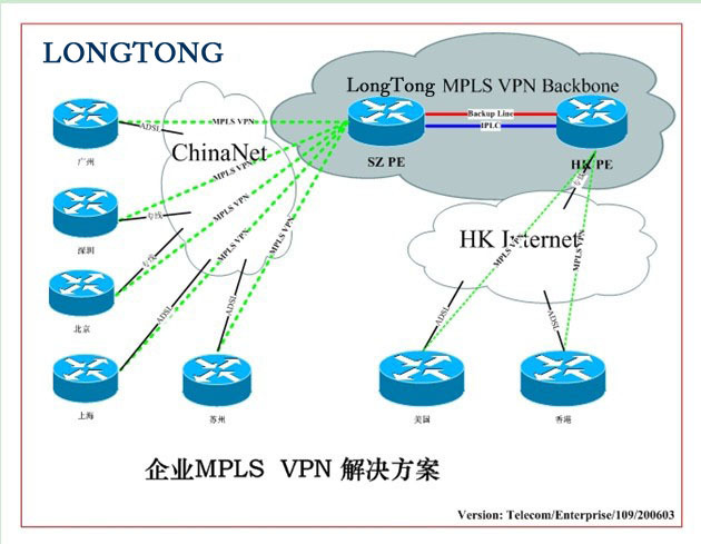 Enterprise internal virtual network line, MPLS-VPN