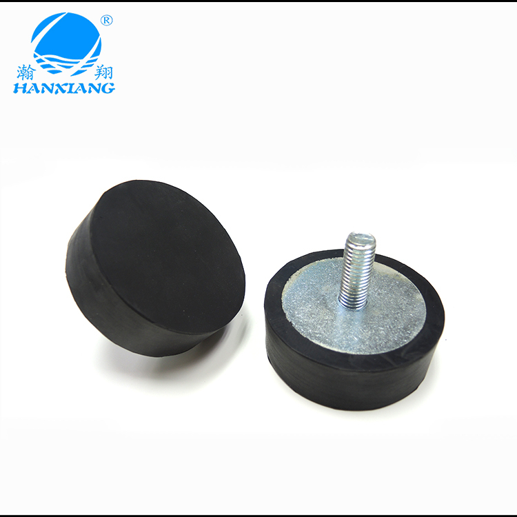 M12 large cylindrical rubber feet bumpers male screw factory