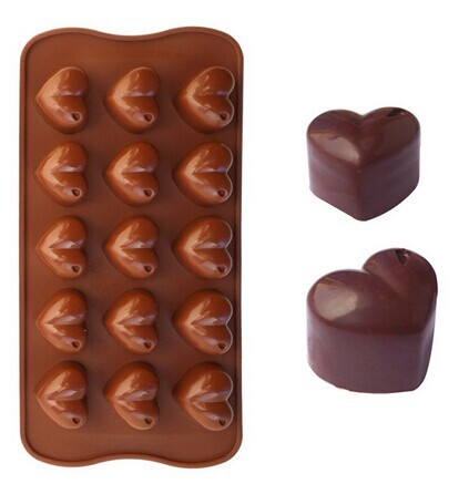 Silicone chocolate baking mold