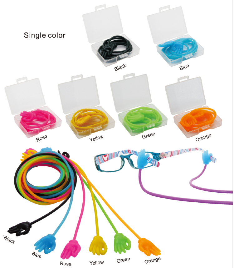 2016 New Colorful Silicone glasses chain