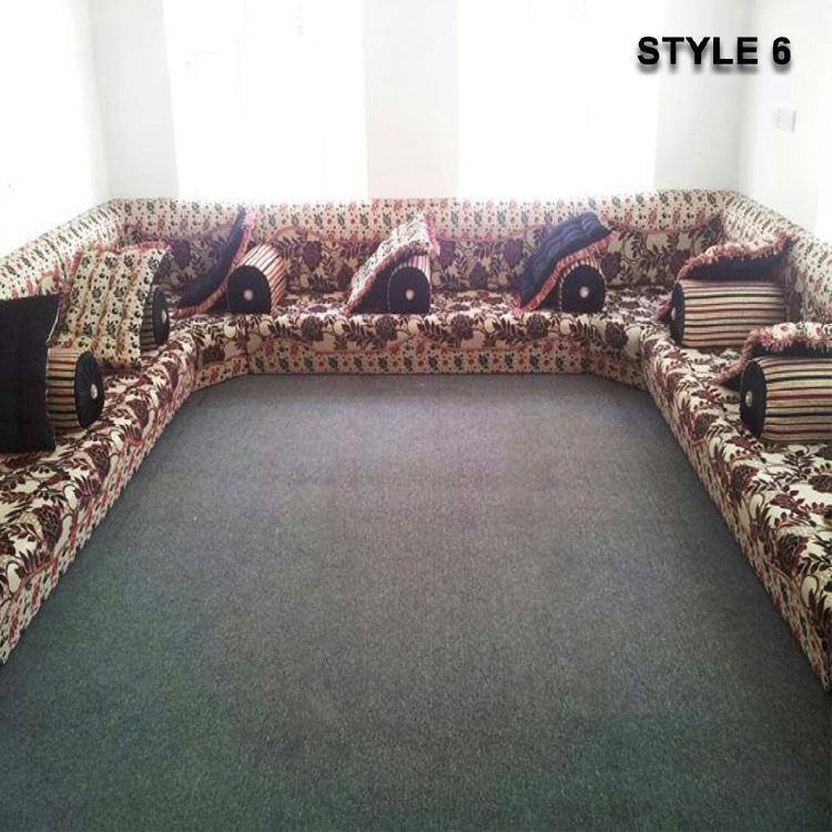 Magnificent Style 6 Arabic Majlis Sofa Floor Seating Jalsa Sofa Machost Co Dining Chair Design Ideas Machostcouk
