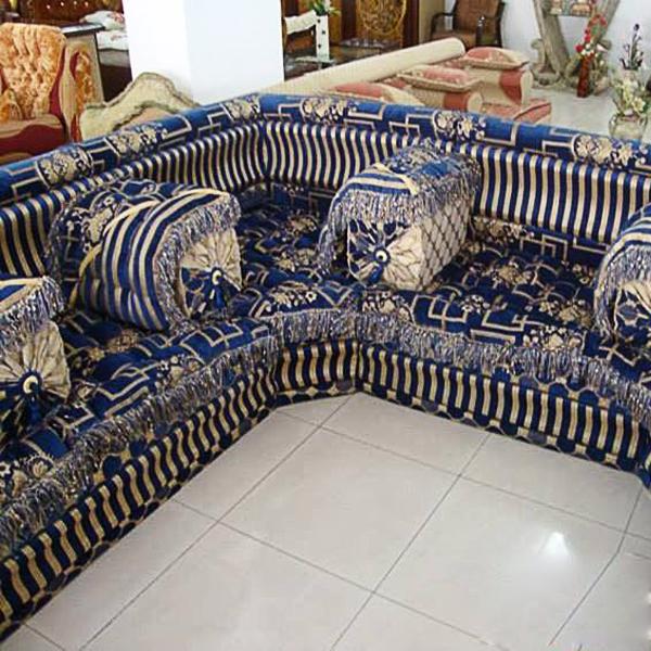 Style SeatingJalsa Arabic Floor Sofa Sofa Blue Majlis IH29ED
