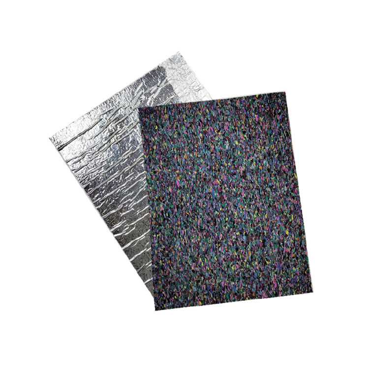 Sound Absorption Carpet Rubber Underlay With Aluminum Film