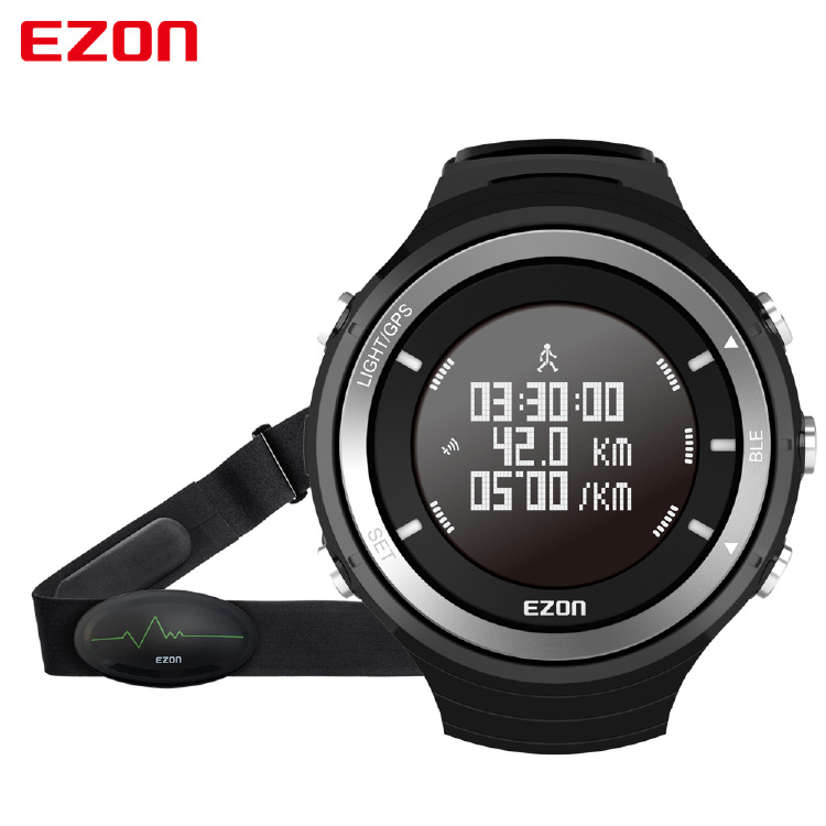T033  GPS & Bluetooth Sports Watch with Heart Rate Belt,  Pe