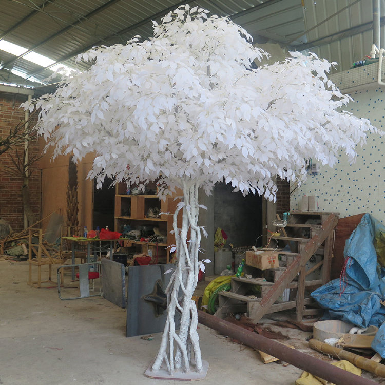 White Artificial Banyan Tree