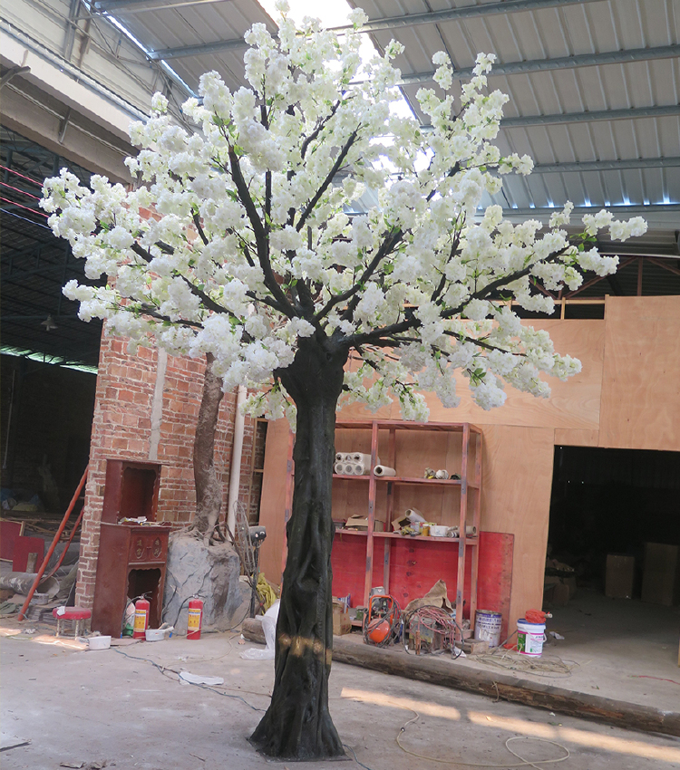 Artificial sakura tree cherry blossom tree fiberglass silk