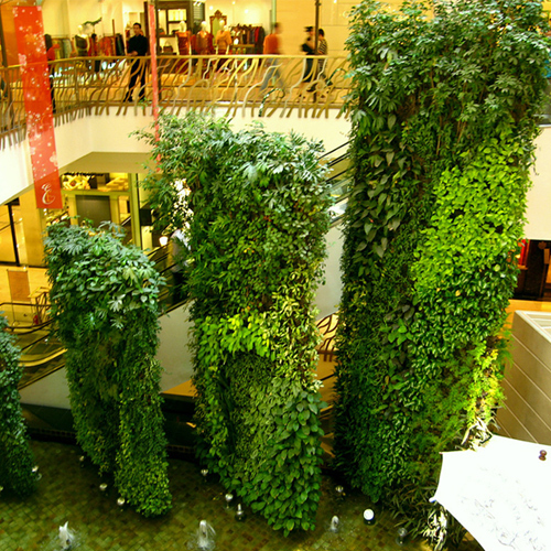 Large Artificial Plant Wall Timeless Green