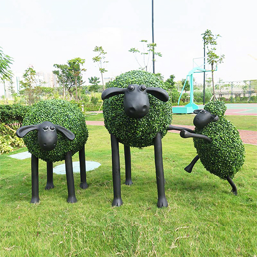 Custom Sheep sean artificial topiary animal grass sculpture