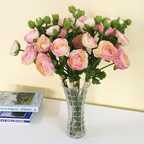 High simulation artificial ranunculus flower branch for indo