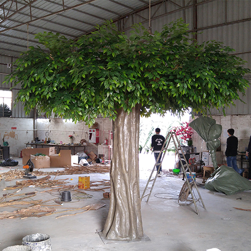 artificial ficus tree fiberglass green customized tree