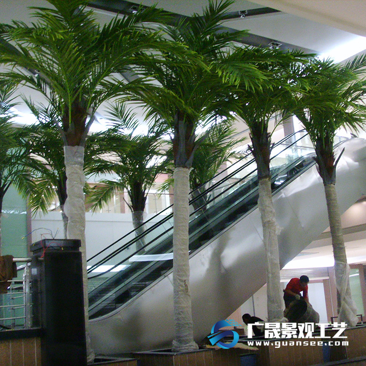 Shopping mall artificial palm tree fiberglass coconut tree