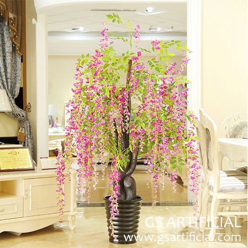 small bonsai Artificial gorse wisteria blossom tree