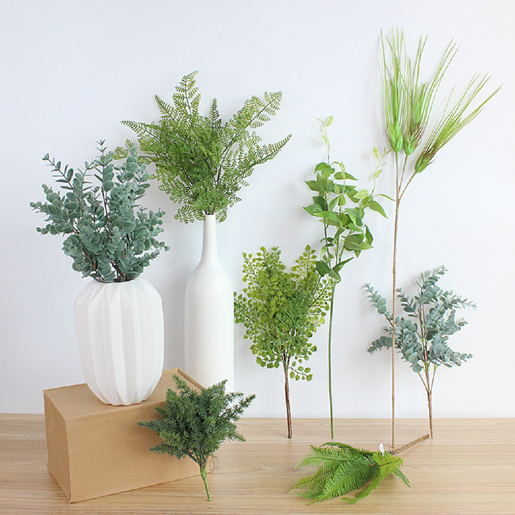 Free samples home decorations artificial ficus leaves