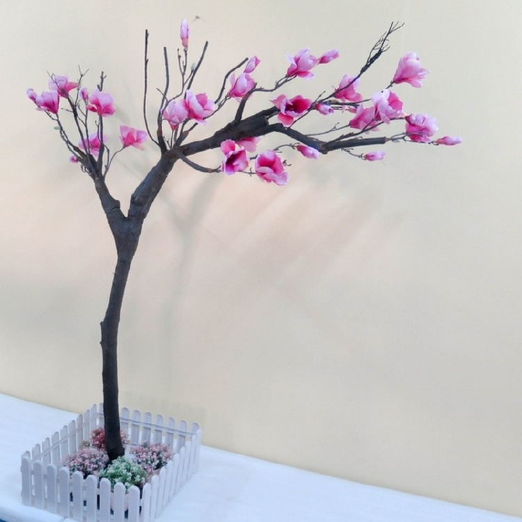 Artificial magnolia flower tree silk petal
