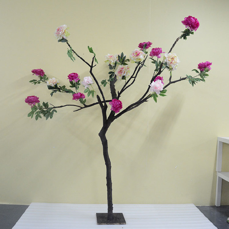 shopping mall decoration indoor decor artificial flower tree