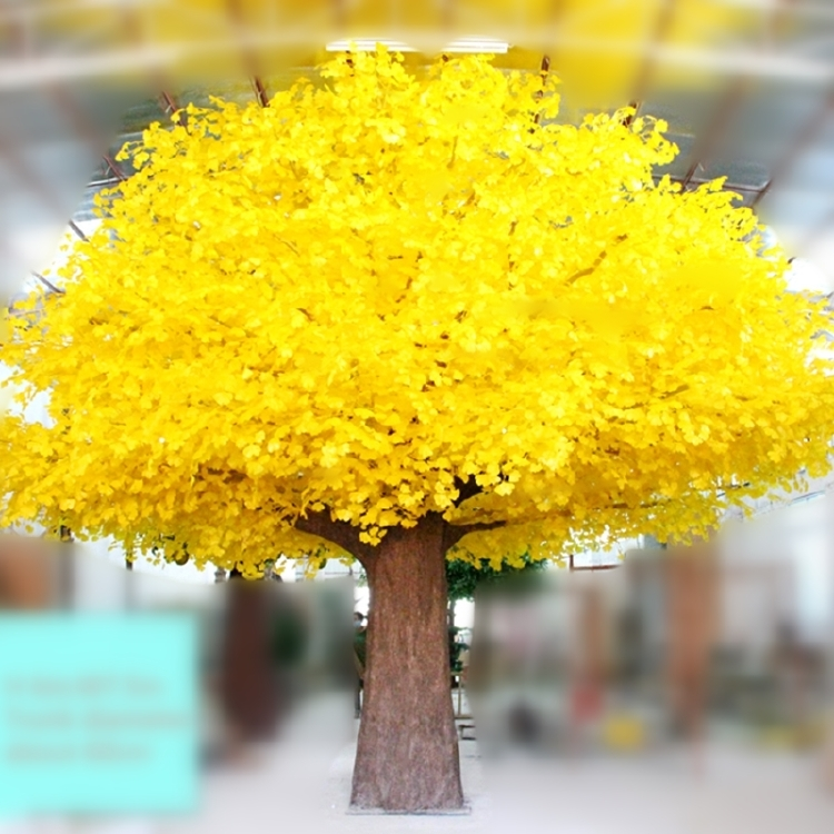 6m large tree restaurant decoration yellow artificial Ginkgo
