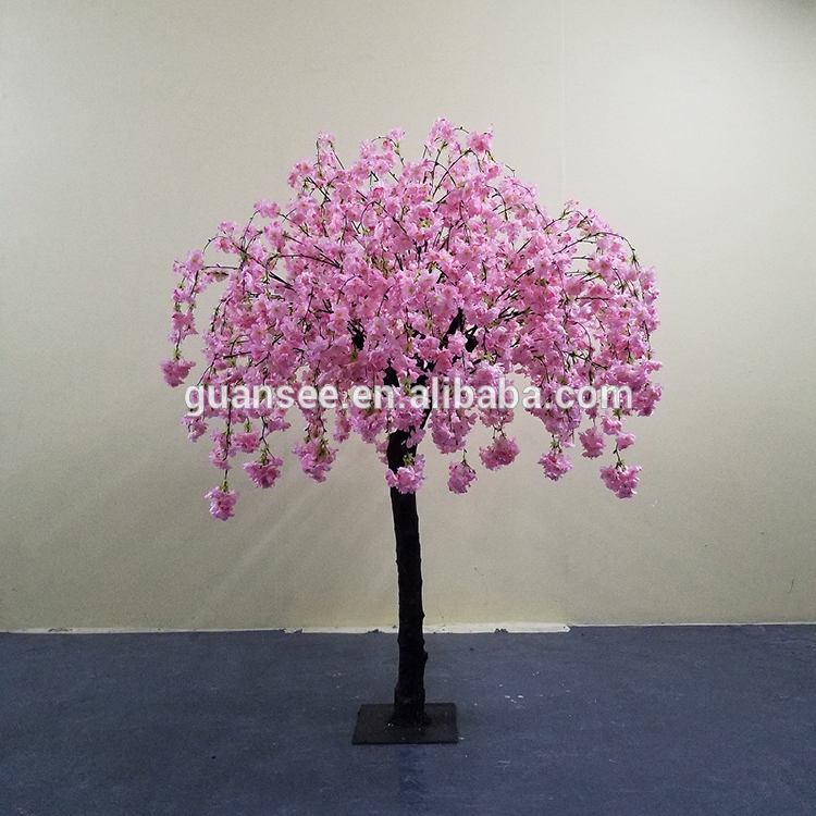 wedding table centerpiece tree  red cherry blossom