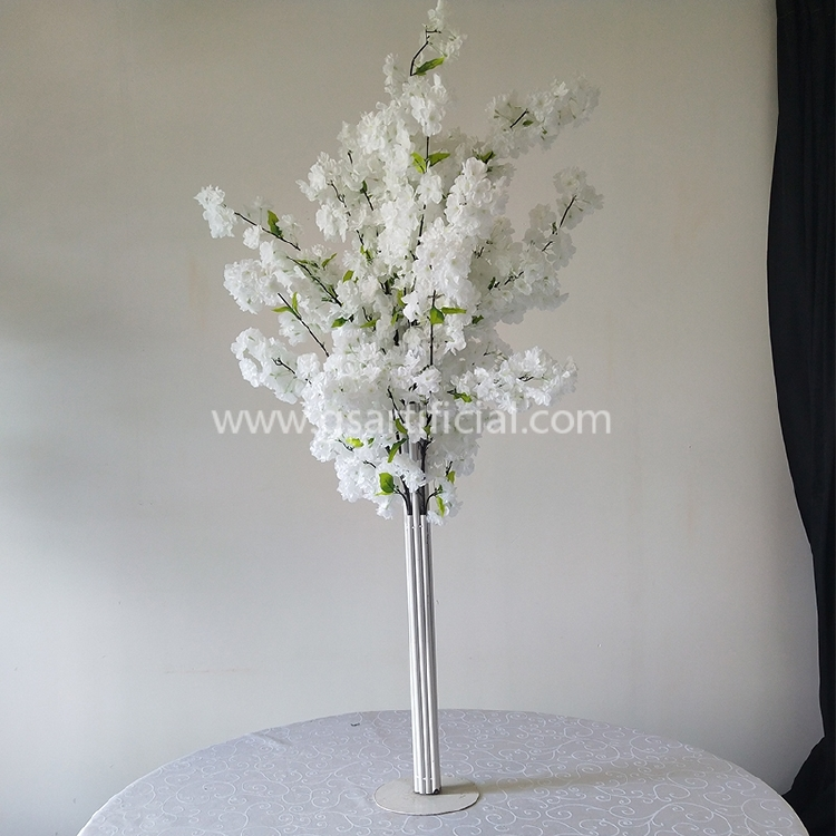 artificial cherry blossom tree centerpiece for wedding