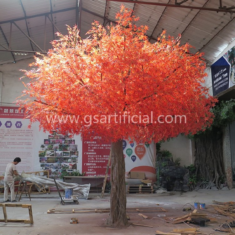 large artificial plant red maple tree for outdoor decoration