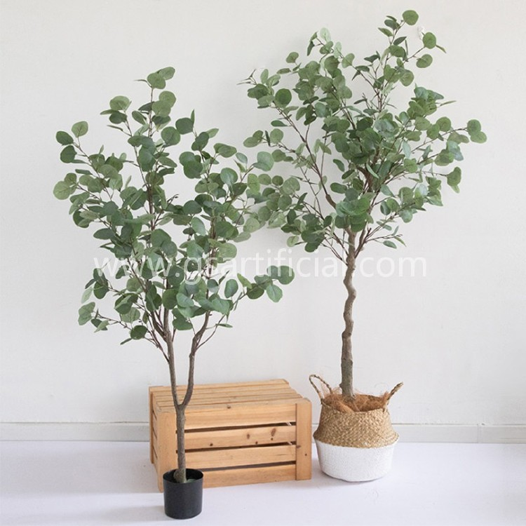 wooden artificial potted tree green tree for home decoration