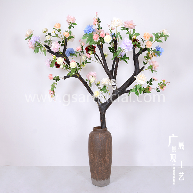 2m high flower vase home decor artificial flower tree