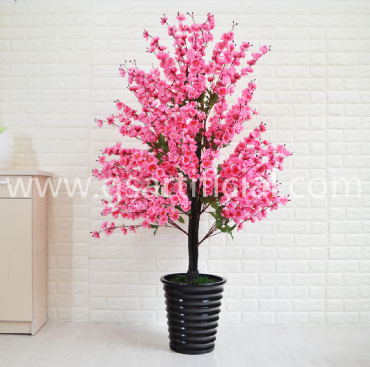 peach blossom flower pot plastic for home decor